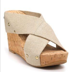 LUCKY BRAND Miller Platform Cork Wedge Sandals 11